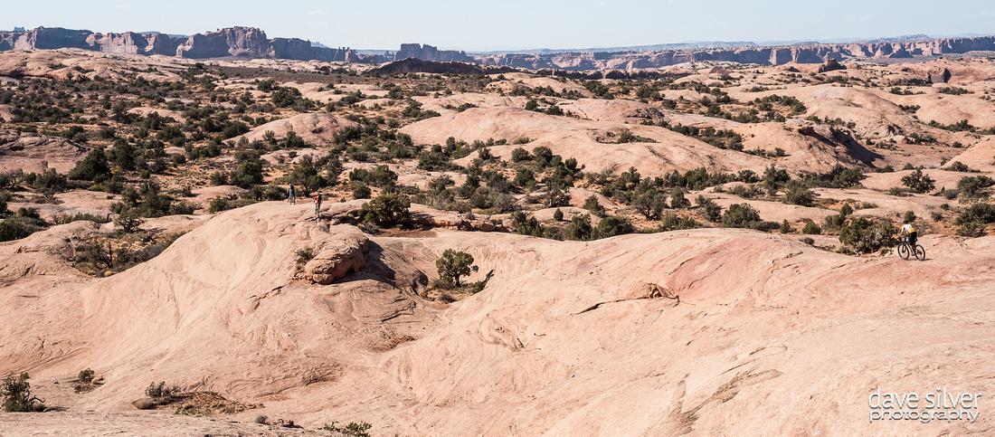 Mountain biking  the Slickrock trail in Moab