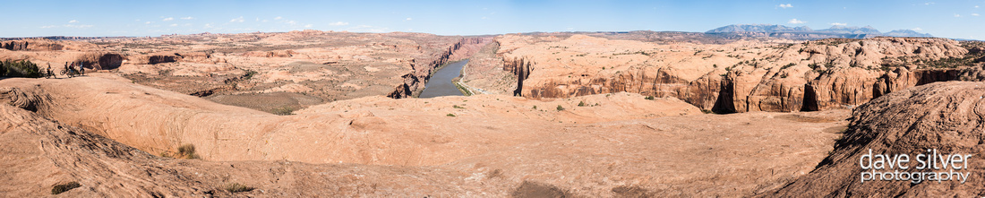Panoramic photo of the Colorado River in Moab