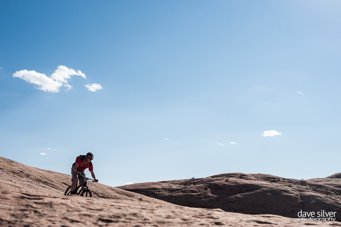 Mountain biking  the Slickrock trail in Moab